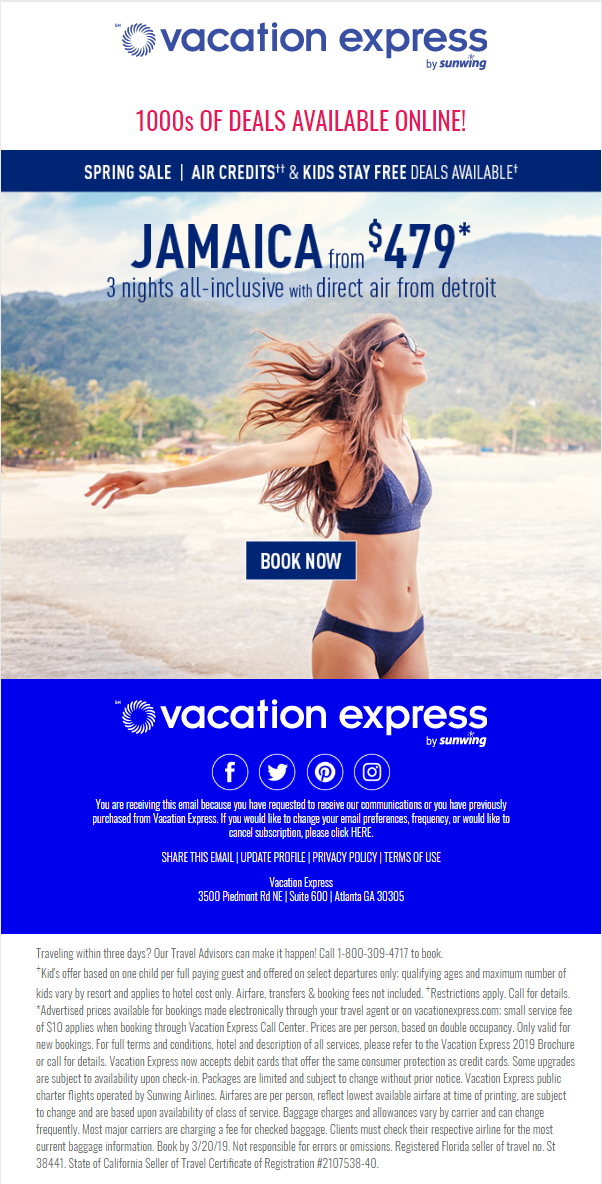 Vacation Express Flier