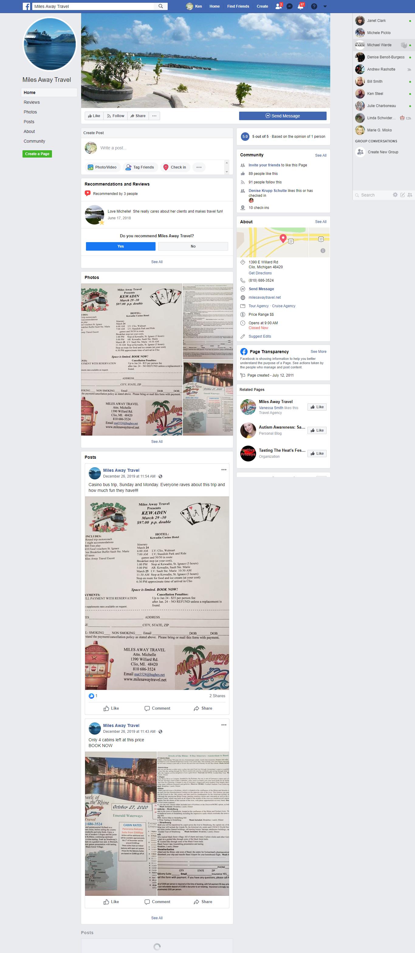 Clio facebook