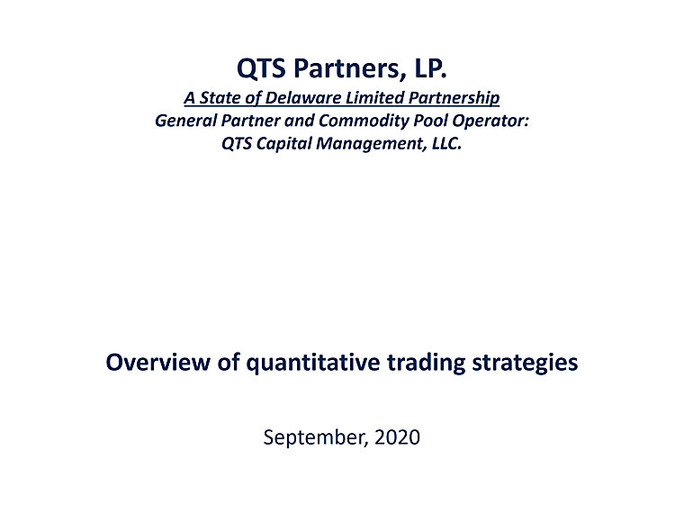 QTS Partners LP - Strategies Overview