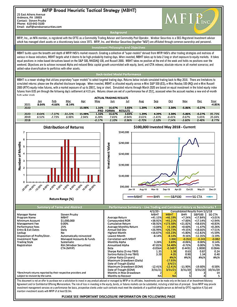MBHT Tear Sheet For March 2021