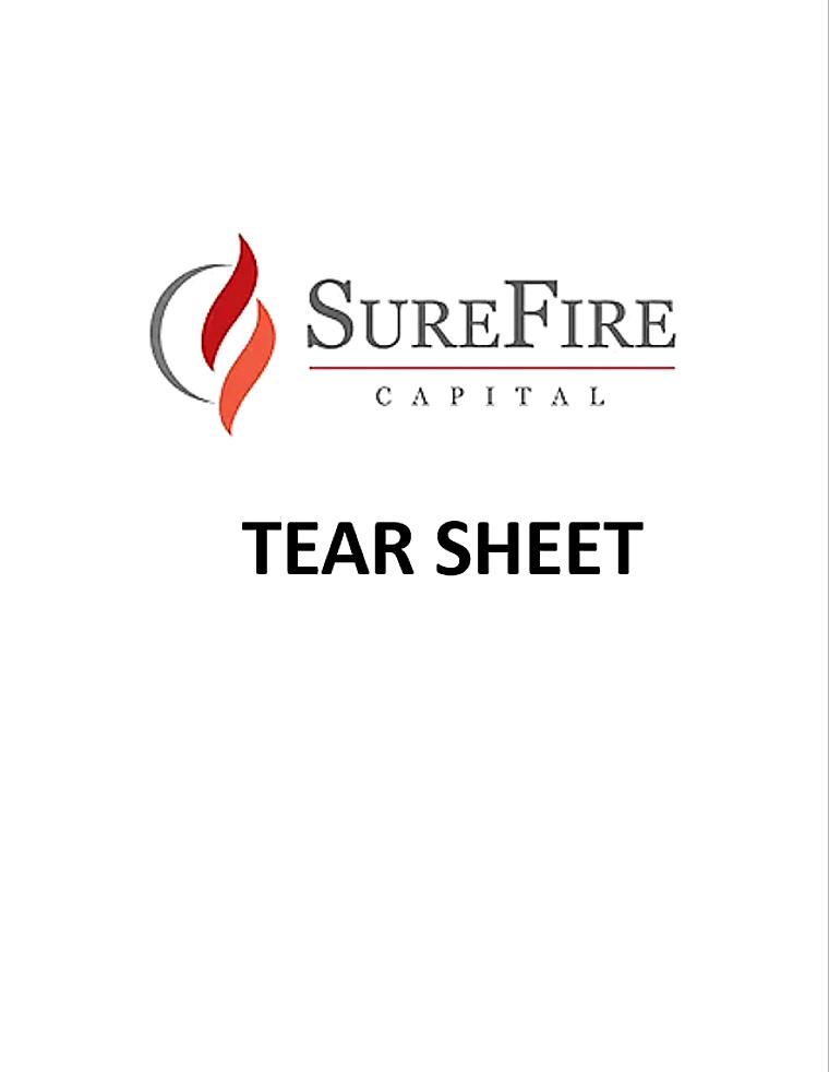 SureFire Active Credit - Firm Tear Sheet