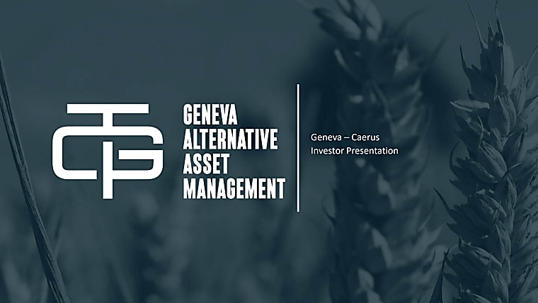 Geneva Caerus Program - Investor Pitch Book