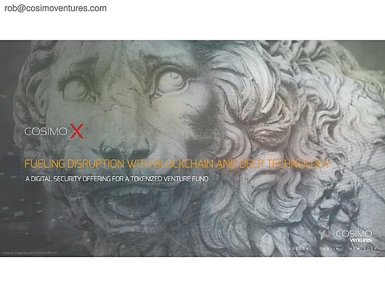 Cosimo X - Investor Pitch Book