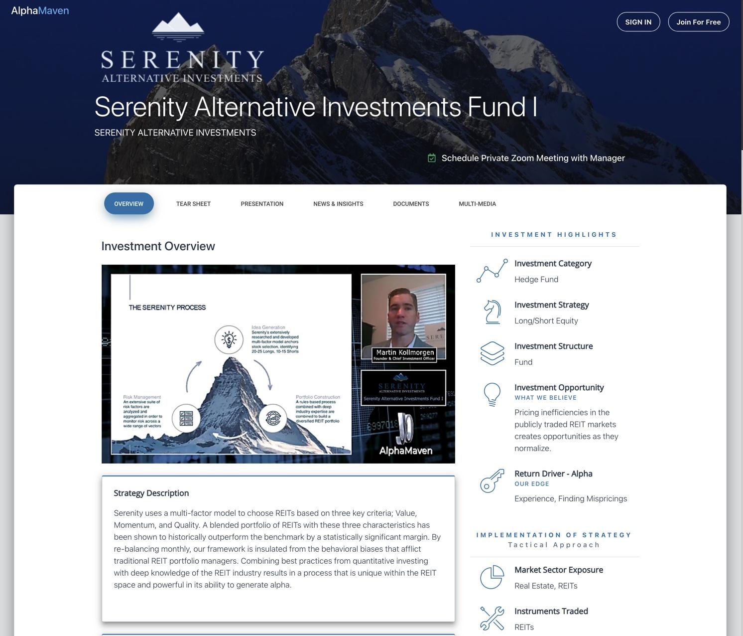 AlphaMaven Hedge Fund Profile