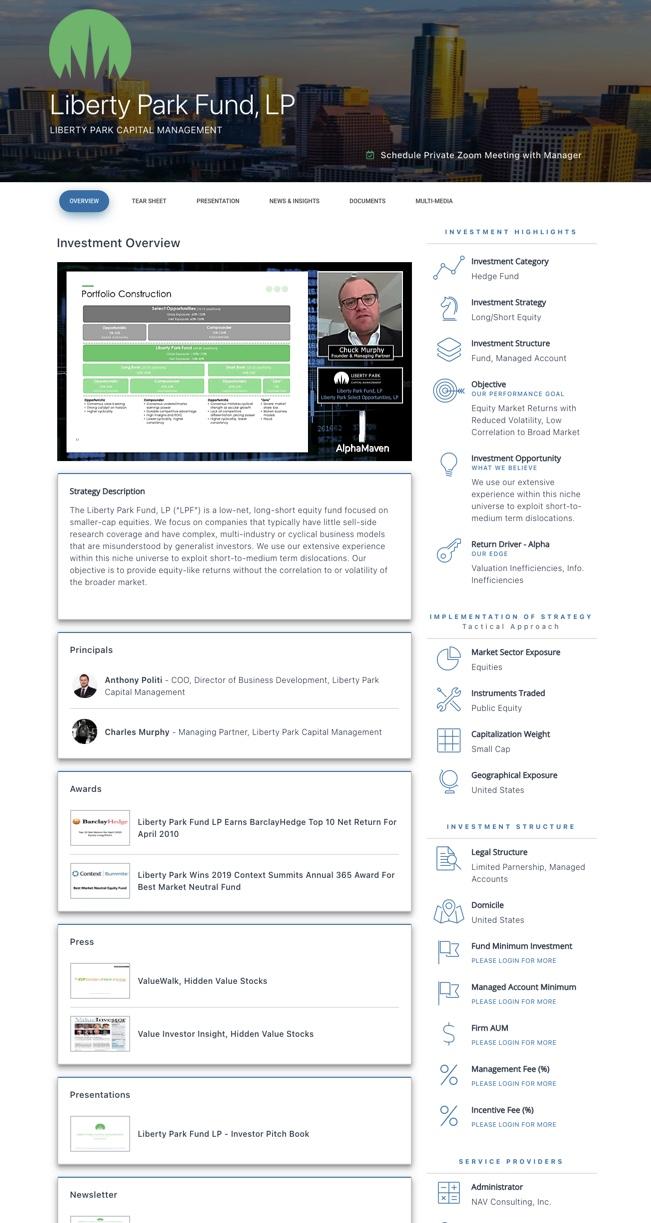 AlphaMaven Hedge Fund Investment Profile