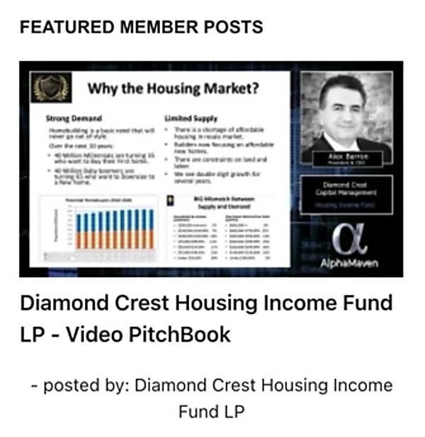 AlphaMaven Featured Member Post