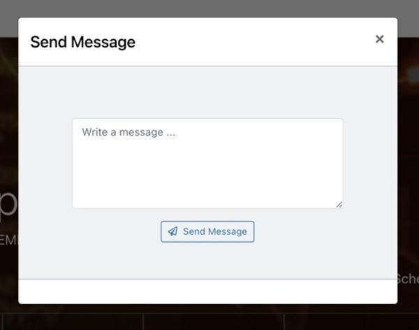 AlphaMaven Send Message Box