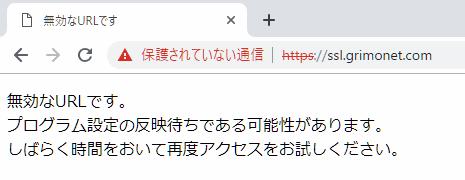 Xserver https時のエラーメッセージ