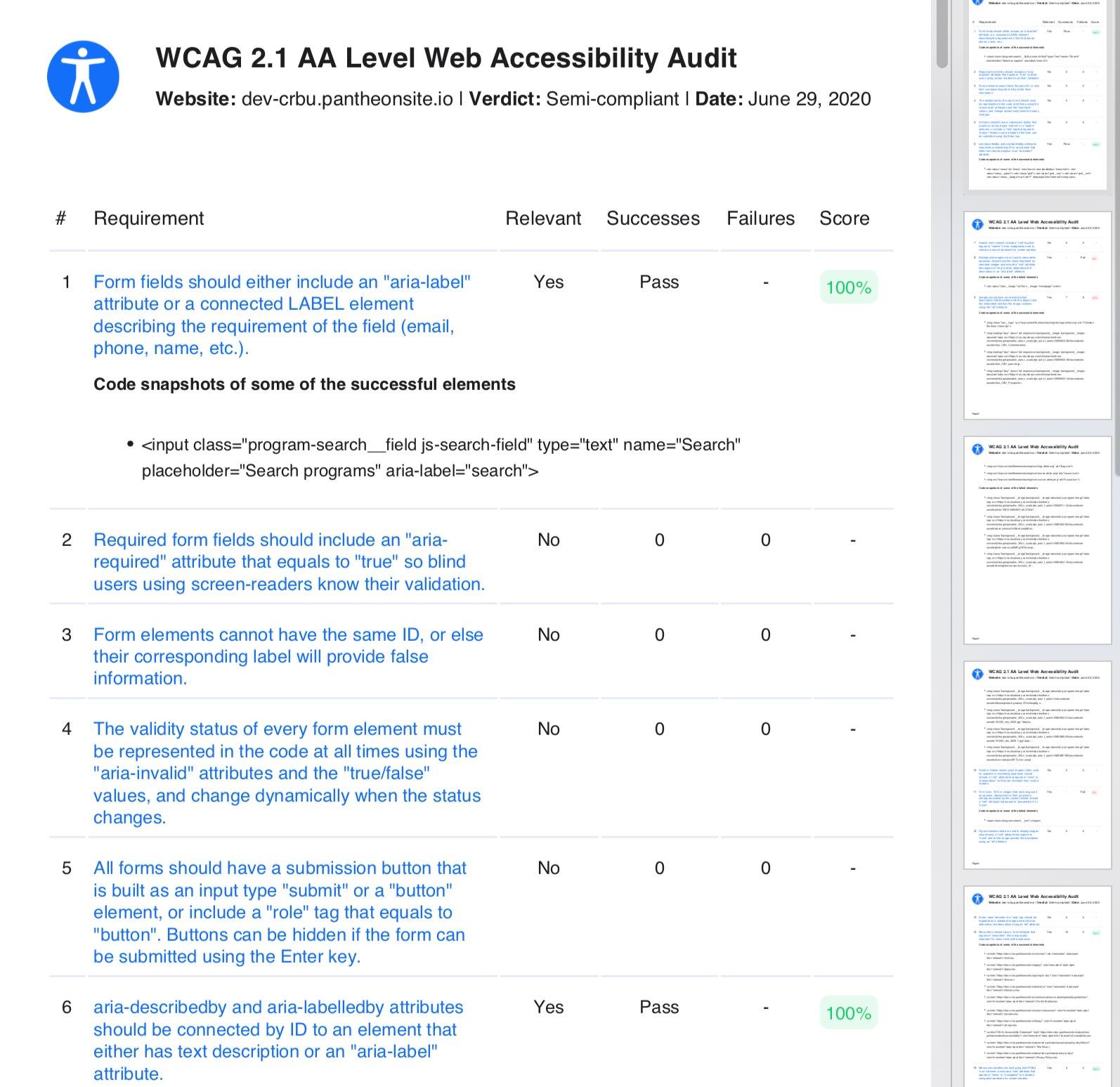 cbu accessibility audit