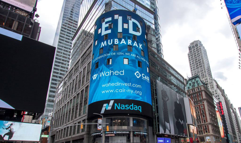 Cool Eid Mubarak wish on Times Square's biggest billboard