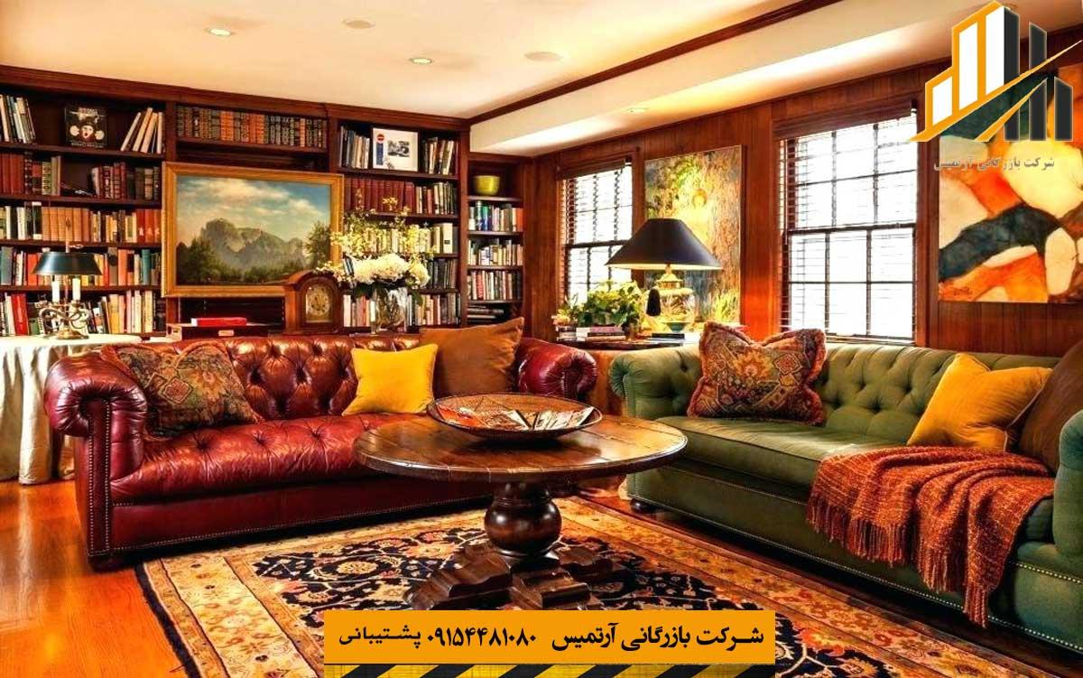 دکوراسیون داخلی کلاسیک با رنگ های گرم