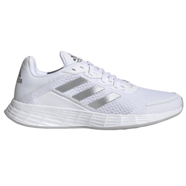 Adidas Duramo SL - Womens Running Shoes - White/Matte Silver/Grey Two