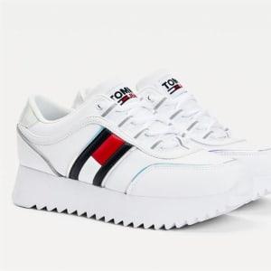Tommy Hilfiger Tommy Hilfiger Womens Flag Flatform Sneaker White