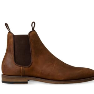 ITNO ITNO Mens Charles Chelsea Boot Tan Oil Suede