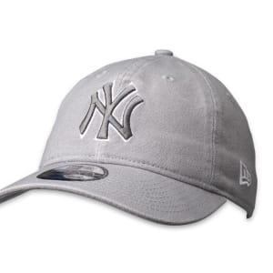 New Era New Era 9Twenty NY Yankees Cap Wash Canvas Grey