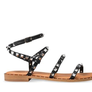 ITNO ITNO Womens Monika Studded Sandal Black Natural