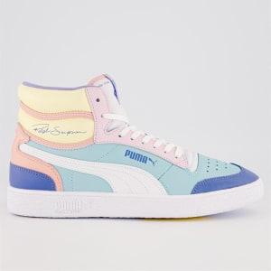 Puma Puma Mens Ralph Sampson Mid Angel Blue-Puma White-Pink Lady