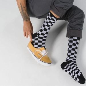 Vans Vans Checkerboard Crew Sock II 6.5-9 Black