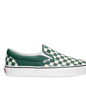 Vans Vans CLASSIC SLIP-ON CHECKERBOARD Bistro Green