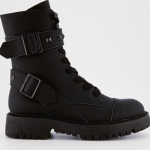 ITNO ITNO Womens Trooper Boot Black Leather