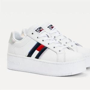 Tommy Hilfiger Tommy Hilfiger Womens Iridescent Flatform Sneaker White