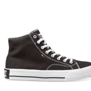 Tommy Hilfiger Tommy Hilfiger Mens Mid Top Flag Sneaker Black