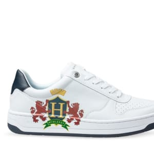 Tommy Hilfiger Tommy Hilfiger Mens Shield Logo Low-Top White