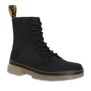 Dr Martens Dr Martens Combs II Boots Black 10 Oz Canvas & Black Hi Suede Wp