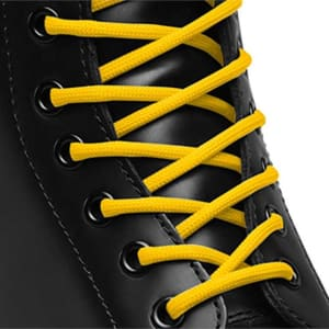 Dr Martens Dr Martens 140cm Round Laces (8-10 eye) Yellow Round