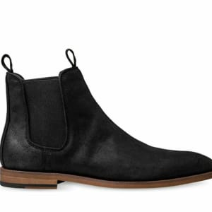 ITNO ITNO Mens Charles Chelsea Boot Black Oil Suede