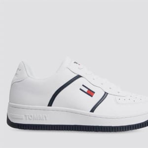 Tommy Hilfiger Tommy Hilfiger Mens Basket Cupsole Sneaker White