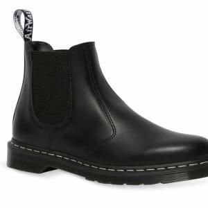Dr Martens Dr Martens 2976 White Stitch Chelsea Boot Black