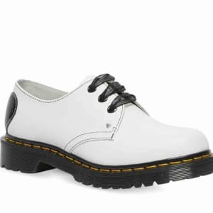 Dr Martens Dr Martens 1461 Hearts Smooth White Smooth & Black Patent Lamper