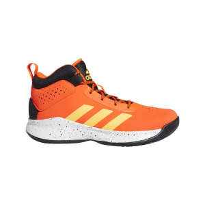 Adidas Cross Em Up 5 Wide - Kids Basketball Shoes - Solar Red/Solar Gold/Core Black