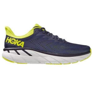 Hoka One One Clifton 7 - Mens Running Shoes - Odyssey Grey/Evening Primrose
