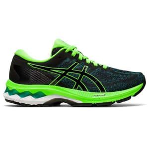 Asics Gel Kayano 27 GS - Kids Running Shoes - Black/Green Gecko