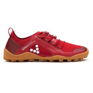 Vivobarefoot Primus Trail SG Mesh - Womens Trail Hiking Shoes - Red/Gum