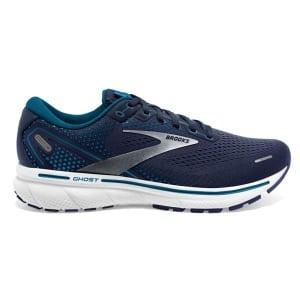 Brooks Ghost 14 - Mens Running Shoes - Navy/Stellar/White