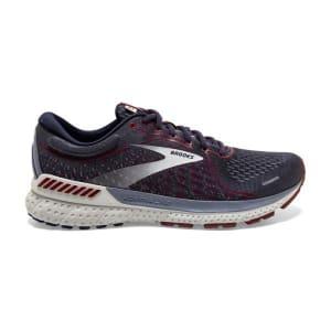 Brooks Adrenaline GTS 21 - Mens Running Shoes - Peacoat/Grey/Red