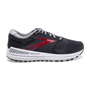 Brooks Beast 20 - Mens Running Shoes - Blackened Pearl/Black/Red