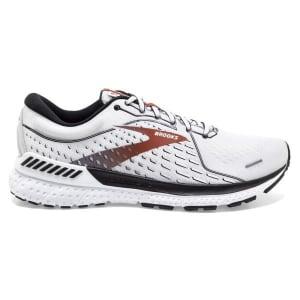 Brooks Adrenaline GTS 21 - Mens Running Shoes - White/Black/Orange