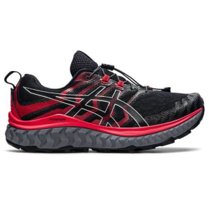 Asics Trabuco Max - Mens Trail Running Shoes - Black/Electric Red