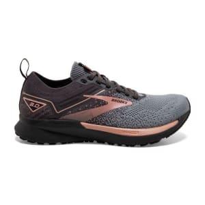 Brooks Ricochet 3 - Womens Running Shoes - Grey/Black/Rose Gold