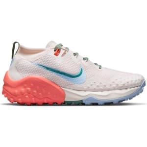 Nike Wildhorse 7 - Womens Trail Running Shoes - Light Soft Pink/Aluminum Magic Ember
