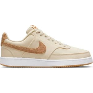 Nike Court Vision Low Canvas - Womens Sneakers - Pearl/Multi-Color Praline/White