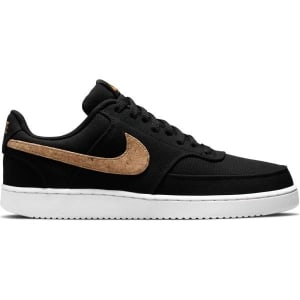 Nike Court Vision Low Canvas - Mens Sneakers - Black/Multi-Color/Twine/White