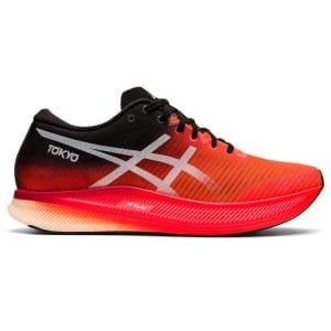 Asics MetaSpeed Edge - Womens Road Racing Shoes - Sunrise Red/White