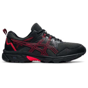 Asics Gel Venture 8 - Mens Trail Running Shoes - Black/Electric Red