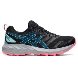 Asics Gel Sonoma 6 - Womens Trail Running Shoes - Black/Deep Sea Teal