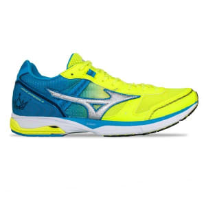 Mizuno Wave Emperor 3 - Mens Running Shoes - Safety Yellow/Silver/Blue